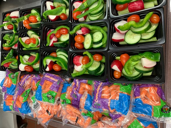 Easy, fresh vegetables at Grant's Lick Elementary.