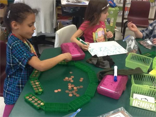 We can count 100 pennies by 2s, 5s, and 10s