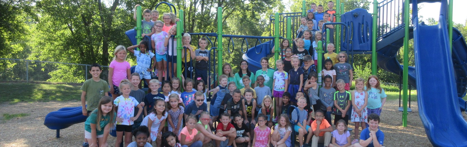 Class Photo on the Playground