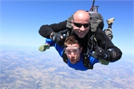 CCMS Band Director Skydives for a Great Cause