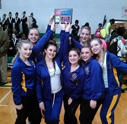 CCHS Dance Team finished 2nd at a dance competition