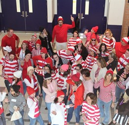 Where's Waldo? Faculty Group Costume