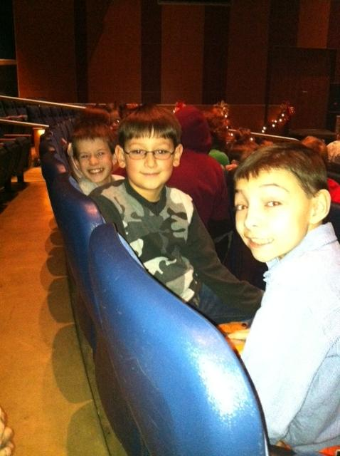 Students waiting for the Nutcracker Performance