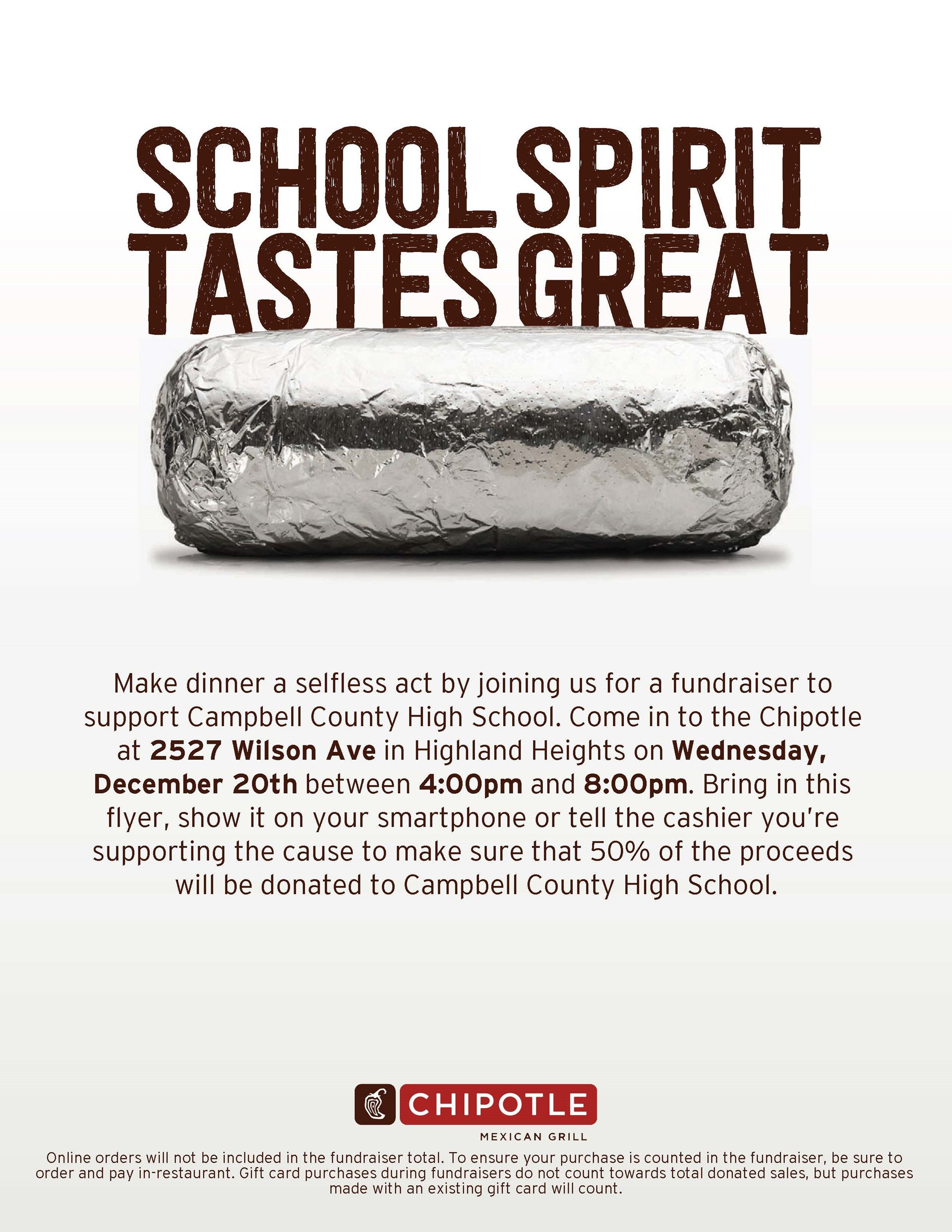 News campbell county high school chipotle fundraiser fandeluxe Choice Image